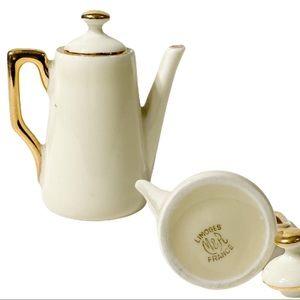Limoges France porcelain miniature pitcher mini